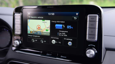 Hyundai Kona electric infotainment