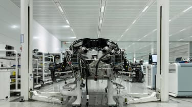 McLaren Speedtail - assembly line - front