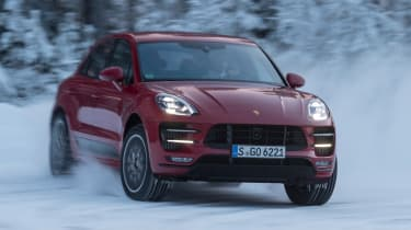 Porsche Macan Performance Package - front cornering