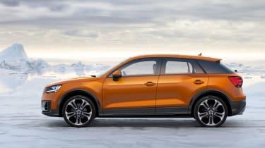 Audi Q2 orange side