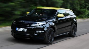 Range Rover Evoque front action