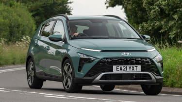 Hyundai Bayon - front cornering