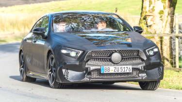 Mercedes CLS prototype - front cornering