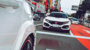 Honda Civic Type R front town