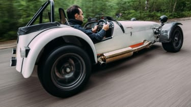 Caterham Seven road trip - Superlight R500 rear