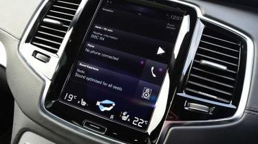 Volvo XC90 - infotainment screen