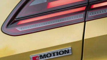 Volkswagen Arteon review - gold e-motion badge