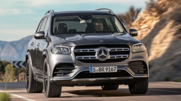 Mercedes GLS - grey front action