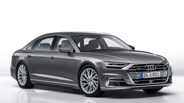 New Audi A8 unveiled - front quarter
