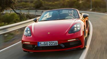 Porsche 718 Boxster T - front action