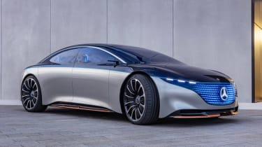 Mercedes Vision EQS concept - front