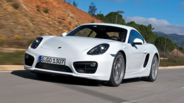 Porsche Cayman S front tracking