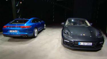 Porsche Panamera - studio front and rear