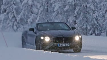 Bentley Continental GTC spies front