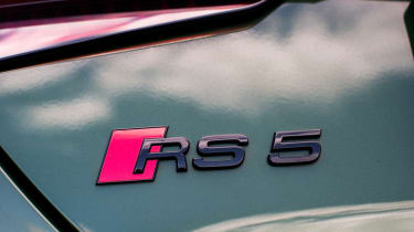 Audi RS 5 Sportback badge rear