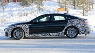 Audi A5 Sportback spies - winter side