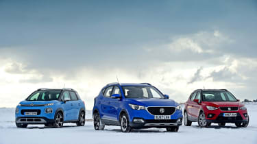 MG ZS vs SEAT Arona vs Citroen C3 Aircross - head-to-head