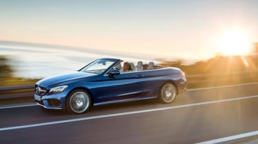 Mercedes C-Class Cabriolet - front sunset