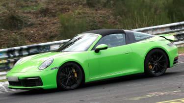 Porsche 911 Targa spies - front 3/4