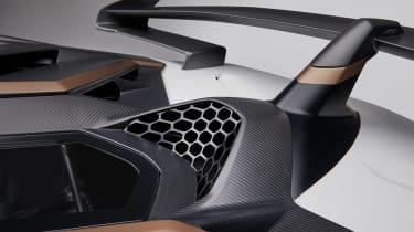 Lamborghini Aventador SVJ 63 - rear wing detail