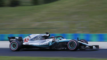 George Russell - Mercedes F1 test