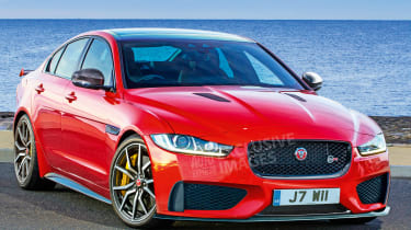 Jaguar XE SVR - front (watermarked)
