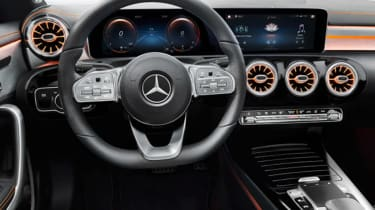 2019 Mercedes CLA leaked picture  dash