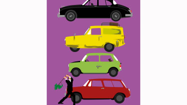 The Car's The Star Sitcom Art Print