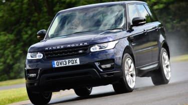 Range Rover Sport front cornering