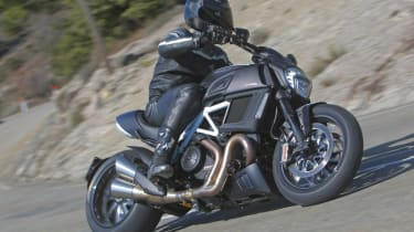 Ducati Diavel review - front corner