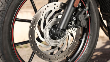 Triumph Street Twin review - front wheel package