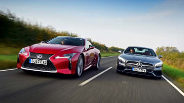 Lexus LC 500h vs Mercedes SL 400 - header
