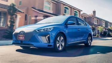 Hyundai Ioniq autonomous - front action