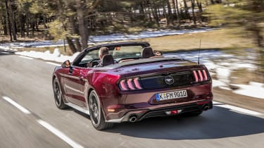 Ford Mustang EcoBoost Convertible - rear tracking