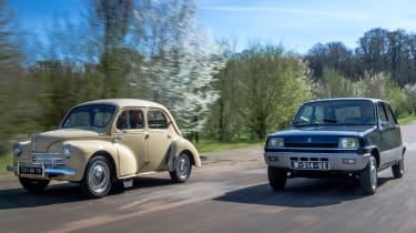 Renault 4cv and Renault 5