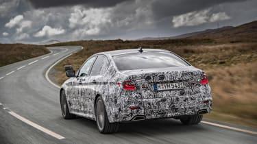 BMW 5 Series prototype 2016 - rear cornering