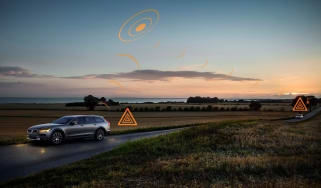 Volvo road awareness safety feature