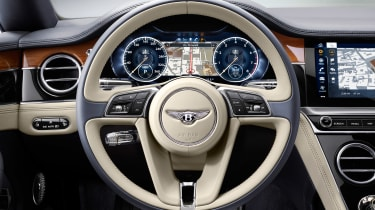 Bentley Continental GT - steering wheel