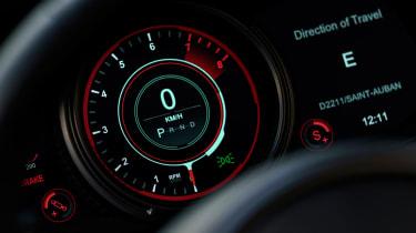 Aston Martin DB11 Volante - speedo