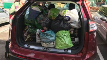 Ford Edge second report - boot full