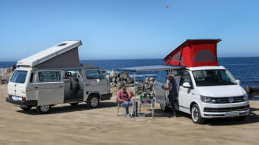 Volkswagen California camping on the beach