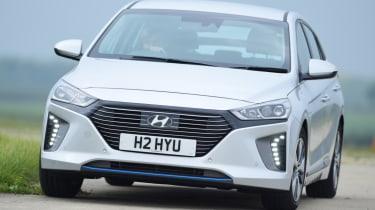 Hyundai Ioniq - front cornering