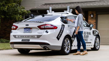 Ford Dominoes self-driving pizza delivery - collection