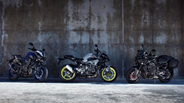 Yamaha MT-10 review - group