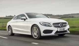Mercedes C-Class Coupe C250d AMG Line - cropped front tracking