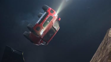 Jaguar E-Pace barrel roll world record stunt