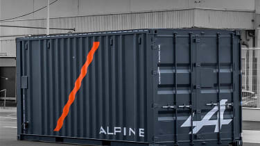 Alpine A110 in container