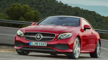 Mercedes E-Class Coupe - front cornering 2
