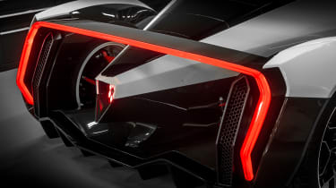 Vanda Dendrobium electric hypercar - rear lights