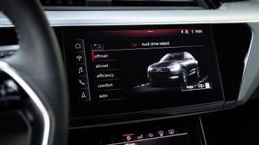 Audi e-tron Prototype review - infotainment screen